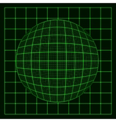 abstract glowing grid on dark background vector image