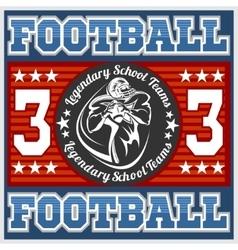 American football - print for boy sportswear vector