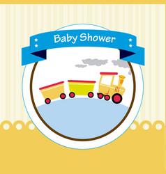 Baby shower design over beige background vector
