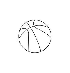 Basketball ball line icon sport graphics vector