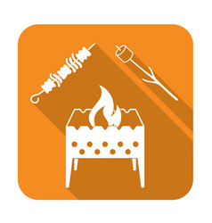 brazier zephyr and kebab icon vector image vector image