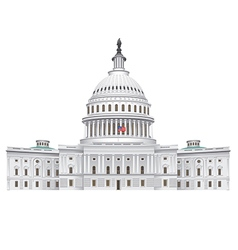 capitol building vector image vector image