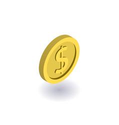 coin icon symbol vector image