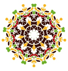 Colorful mandala motif vector image