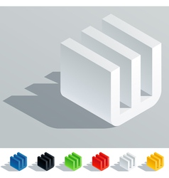 Cube styled monospace characters vector