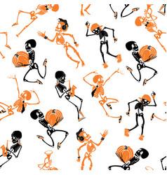 Dark black orange dancing and plating vector