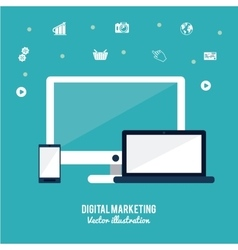 Digital Marketing design vector image