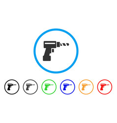 drill rounded icon vector image