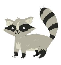 Funny cartoon raccoon mascot vector