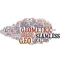 Geo word cloud concept vector