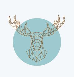 Geometric moose head wild animal zoo vector