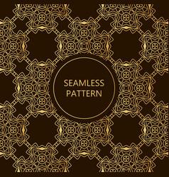 Golden seamless pattern on dark background vector