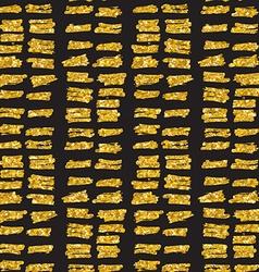 Hand drawn seamless gold glitter pattern brush vector