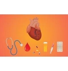 Heart healthcare medicine drug drugs vector