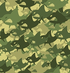 Military texture shark Soldiers protective vector image vector image