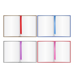opened books vector image