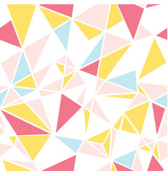 Pink blue and yellow triangles abstract vector