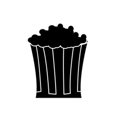pop corn food celebration party silhouette vector image