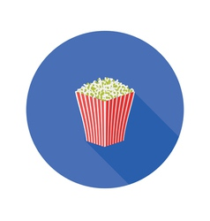 popcorn flat icon vector image
