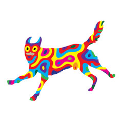 Rainbow dog 3 vector