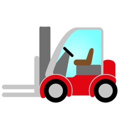 Red forklift truck vector