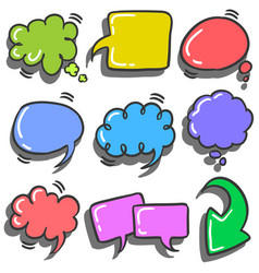 Set of text balloon colorful various vector