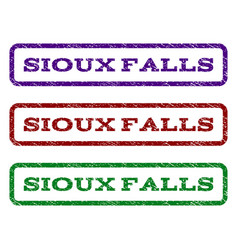 Sioux falls watermark stamp vector