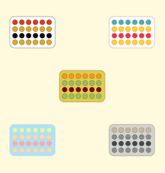 Twister game mat collection vector