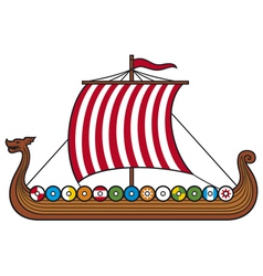 viking ship vector image vector image