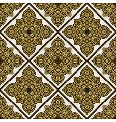 vintage arabic pattern vector image vector image