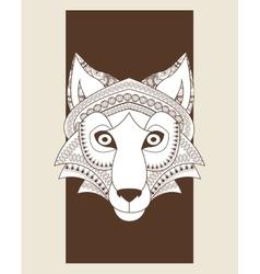 Wolf icon animal and ornamental predator design vector