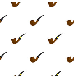 Wooden pipe for smoking pattern seamless vector