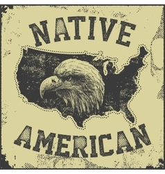 native American poster vector image