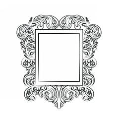 Glamorous baroque rococo mirror frame vector