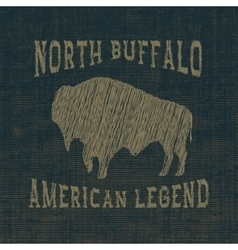 Symbol of buffalo vector