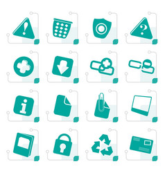 stylized web site and computer icons vector image