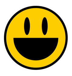 Smiley icon smiling face flat style vector