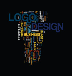 Techniques in logo design text background word vector