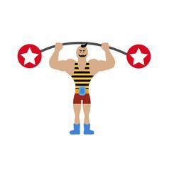 Strong man in circus vector