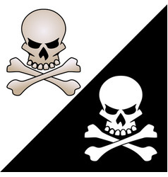 Skull and crossed bones logo vector