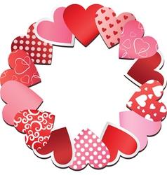 Paper heart frame vector