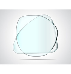 Intersecting glass plates vector