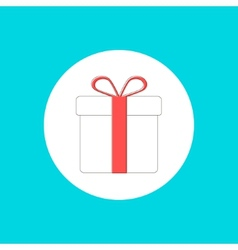 Gift box icon in stroke-style vector