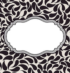 Elegant background pattern floral frame elements vector
