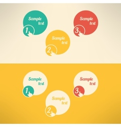 Business process steps infographic elements vector