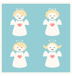 With four angels vector