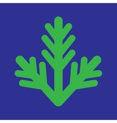 Flat icon on blue background fur-tree branch vector