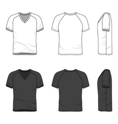 Blank v-neck t-shirt vector