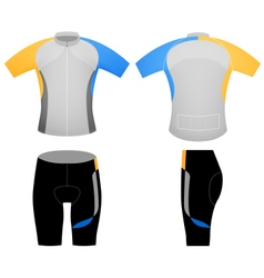 Cycling vest uniform vector