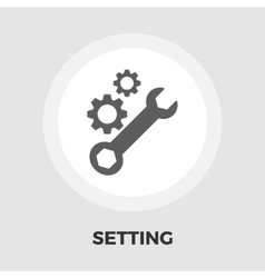 Setting icon flat vector